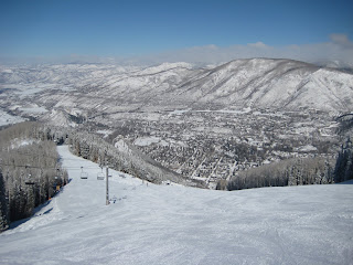 Bottom section of Ruthie's Run at Aspen Mountain.