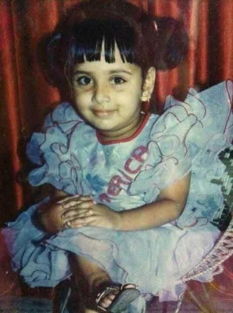 Bidya Sinha Saha Mim Childhood Photo
