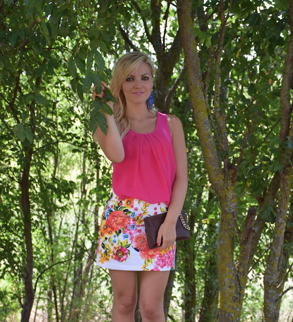 gonna stampa fiori how to wear floral print floral print skirt outfit estivi outfit settembre 2016 mariafelicia magno fashion blogger colorblock by felym fashion blogger italiane fashion blogger bergamo fashion blogger milano web influencer italiane