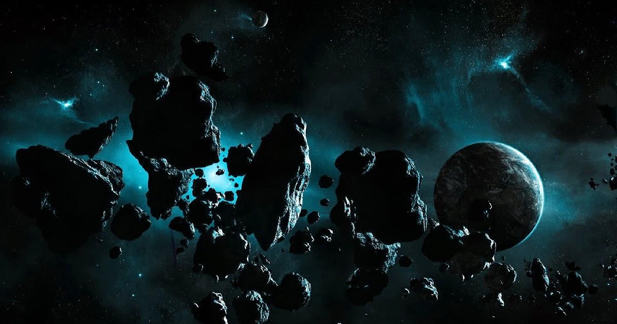 Fondo De Pantalla Abstracto Bolas Azules: Fondo De Pantalla Abstracto Meteoritos Cerca De La Tierra