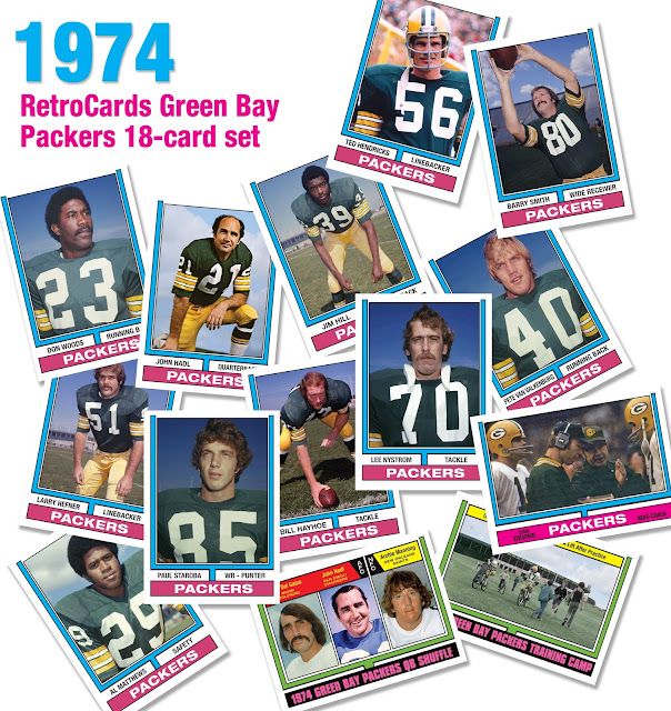 Topps 1974 football cards RetroCards custom cards that never were