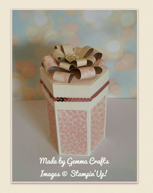 Stampin'Up! Falling in Love gift box