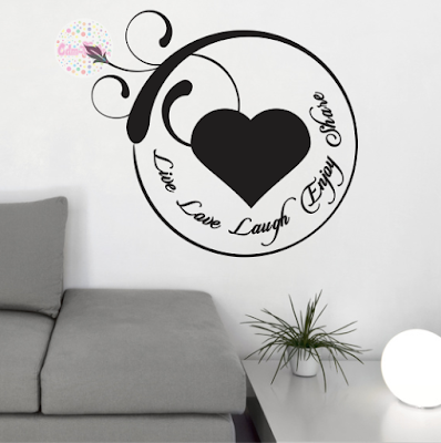 vinilo decorativo pared amor pajaro corazon