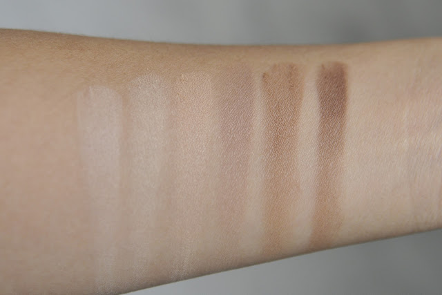 Kat Von D Shade & Light Face Contour Palette Swatches
