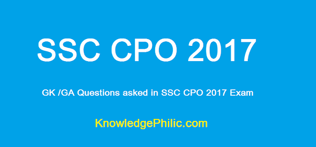 (01-07-2017)  SSC CPO Questions Asked 1st July 2017 (All Slots)