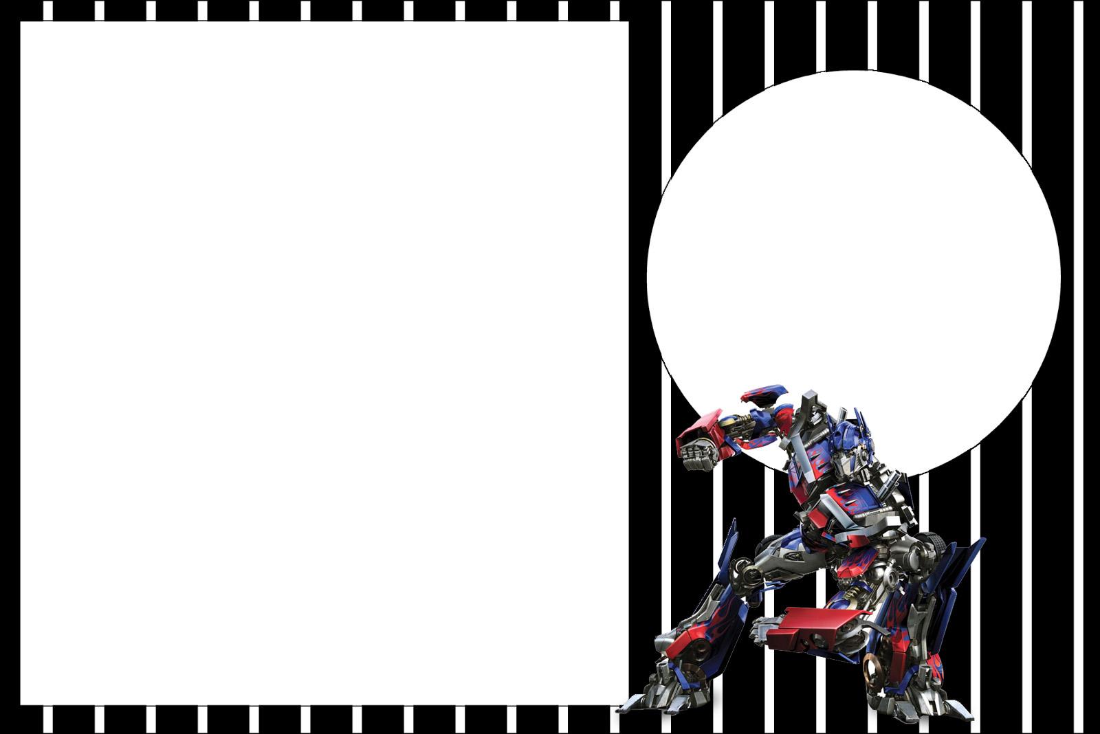Transformers invitaciones para imprimir gratis oh my - Dibujos infantiles originales ...