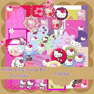 Lindo Scrapt kit de Hello Kitty
