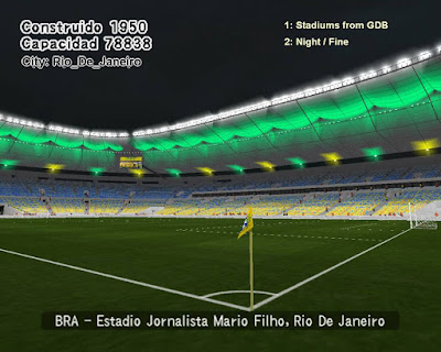 PES 6 Stadiums Jornalista Mário Filho (Maracanã) 2018 by World Stadiums PES6