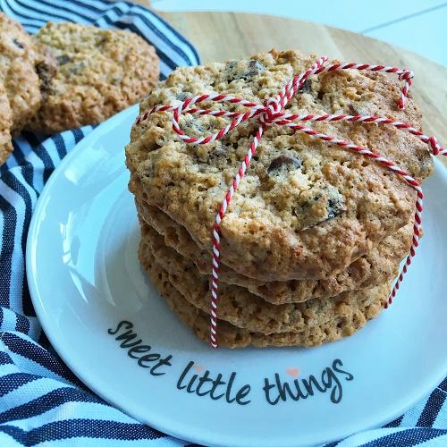 Haferflocken-Cookies mit Cranberries, Walnüssen und Schokostückchen