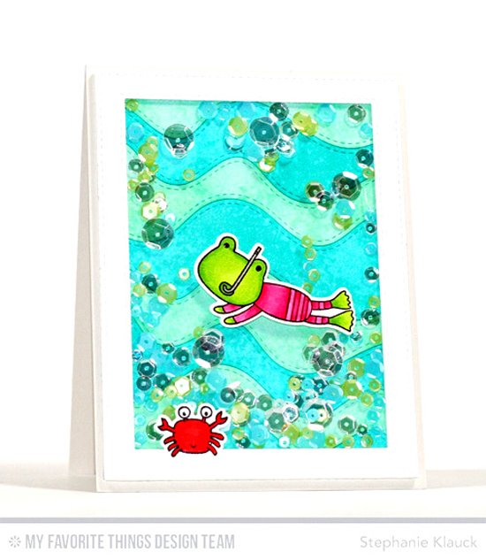 Handmade card from Stephanie Klauck featuring Soak up the Fun stamp set and Die-namics, Stitched Whimsical Waves, Stitched Rectangle Frames, and Blueprints 21 Die-namics #mftstamps