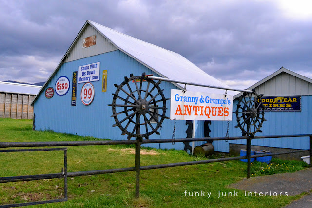 Junkin' day at Granny and Grumpa's Antiques in Abbotsford, BC via FunkyJunkInteriors.net