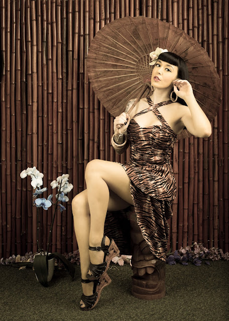 Tiki Pinup Photoshoot - Little Miss Doo Wop - Portraits & Pinups