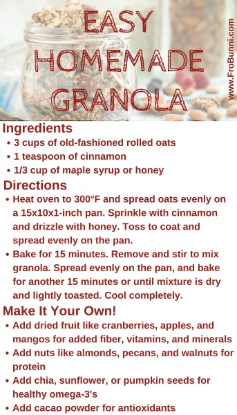 FroBunni | Easy, Homemade Granola Recipe