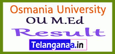 Osmania University M.Ed Exam Results