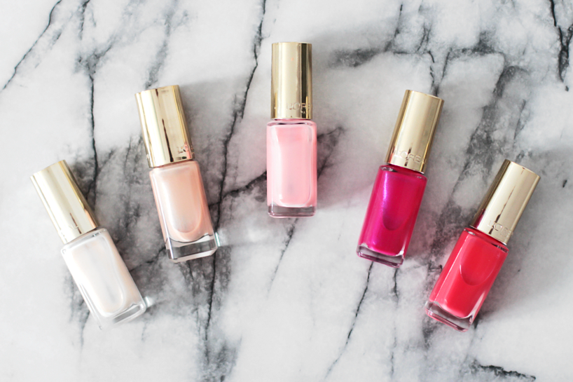 Loreal Paris La Vie En Rose Collection nail polish varnish