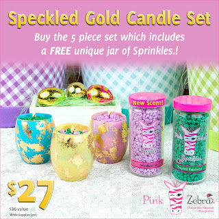 Pink Zebra Easter special with free sprinkles