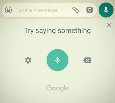 mengirim pesan melalui whatsapp tanpa harus mengetikan teks