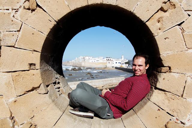 Alberto en la abertura de la Skala du Port