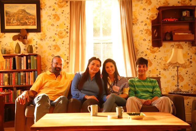 Bijay Jasjit Anand, Grusha Kapoor, Sunny Leone, and Karamvir Lamba in Karenjit Kaur
