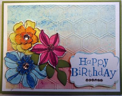 Crafty Marias Stamping World Secret Garden Happy Birthday