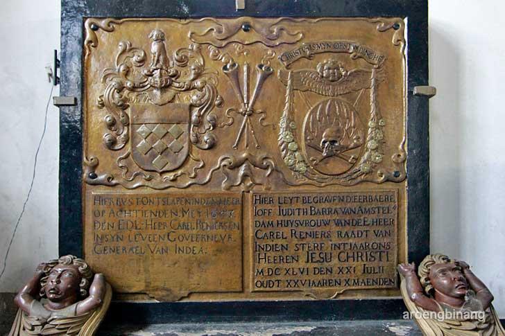 prasasti makam gereja sion jakarta