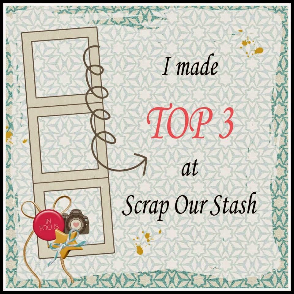 Nov 2014 TOP 3 at Scrap Our Stash!