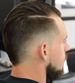 Faux Hawk Hairstyle with Faded Sides