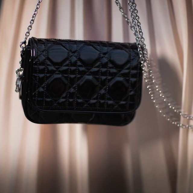 dior purse, patent leather purse, quilted purse