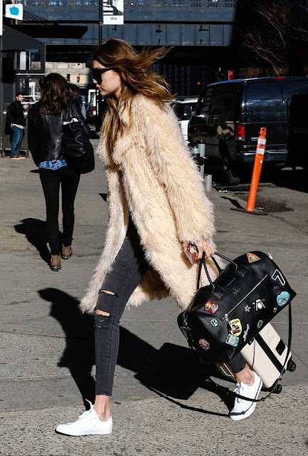 Gigi Hadid Travels Chic