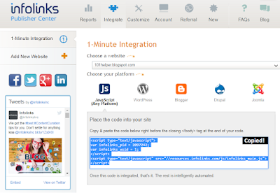 how to install infolinks ads in blogger