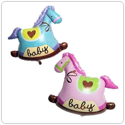 Balon Foil Baby Trojan Mini / Foil Kuda Troya Mini