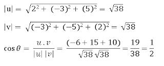 menghitung sudut vektor