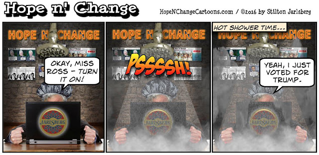 obama, obama jokes, political, humor, cartoon, conservative, hope n' change, hope and change, stilton jarlsberg, trump, hillary, election, early voting