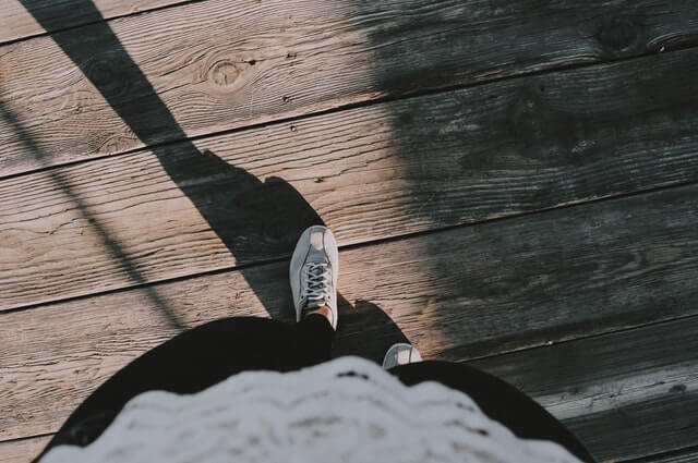 Person Wearing White Lace up Shoes HD Copyright Free Image