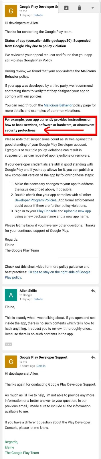 PissOffGoogle: GEEK APP BANNED AGAIN FROM GOOGLE PLAY WITH