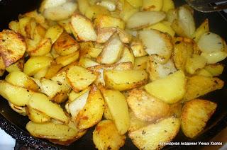 картофель для оджахури обжарить