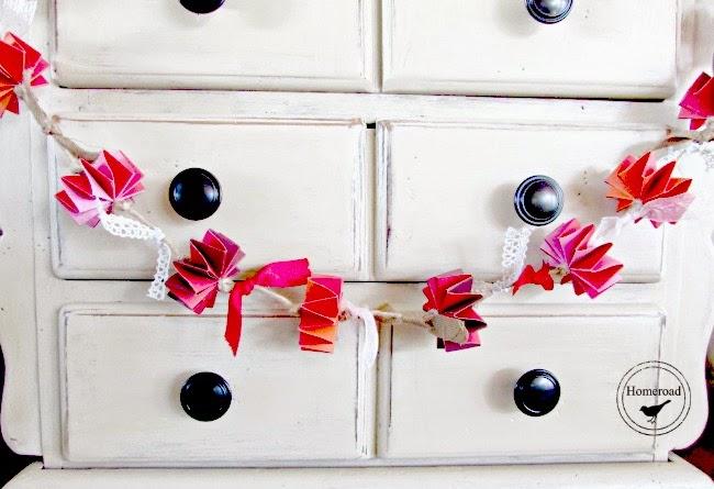 Valentine's Garland IKEA Hack www.homeroad.net