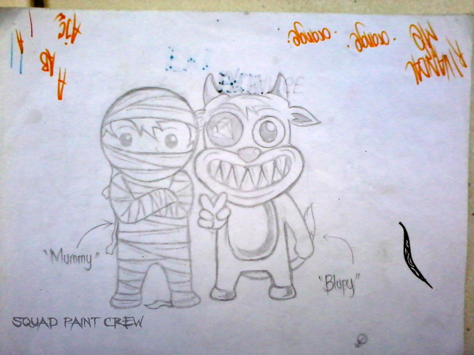 Squad paint crew sketsa