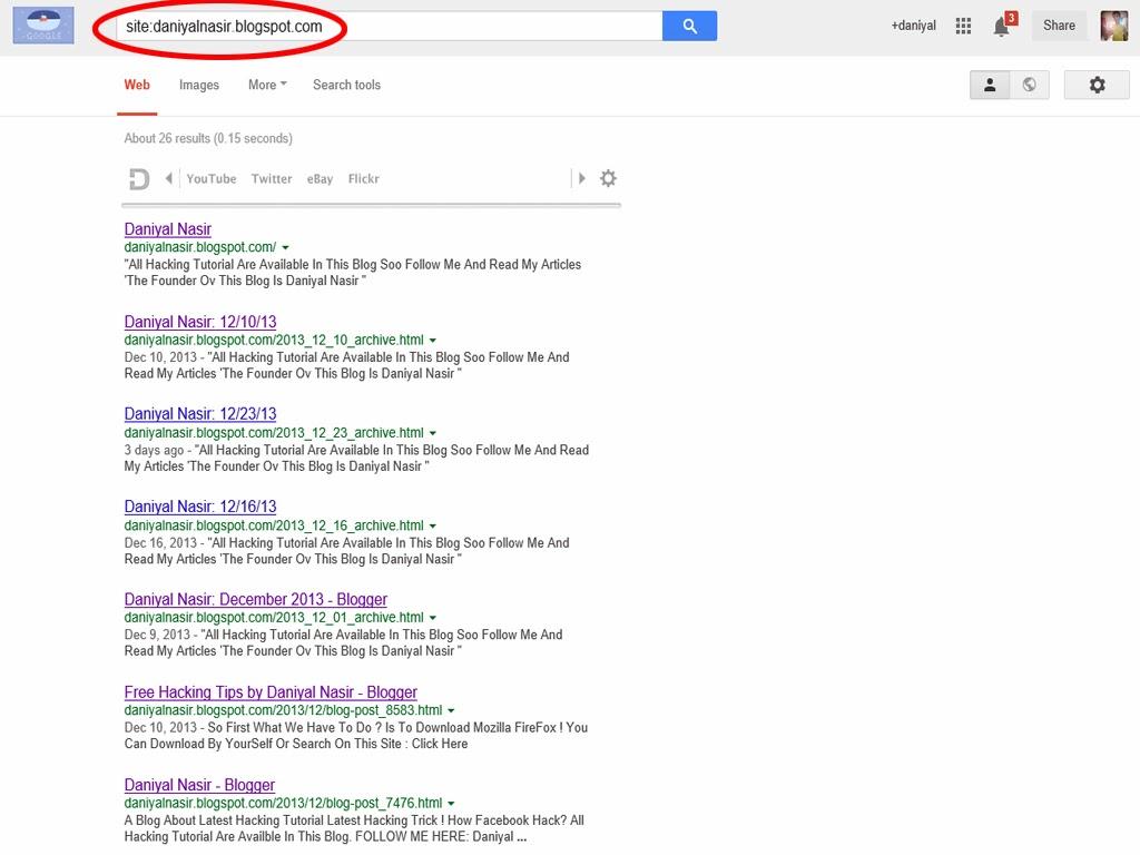 Daniyal Nasir: HACK Using Google Search Engine!