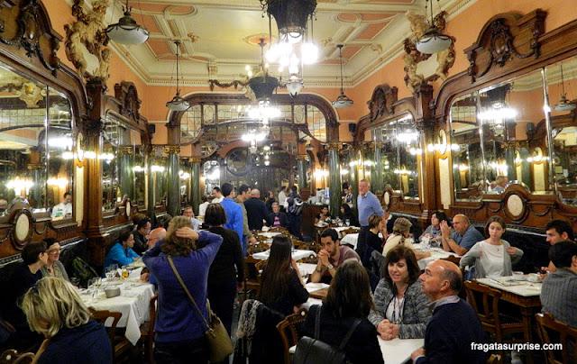 Salão do Café Majestic, no Porto