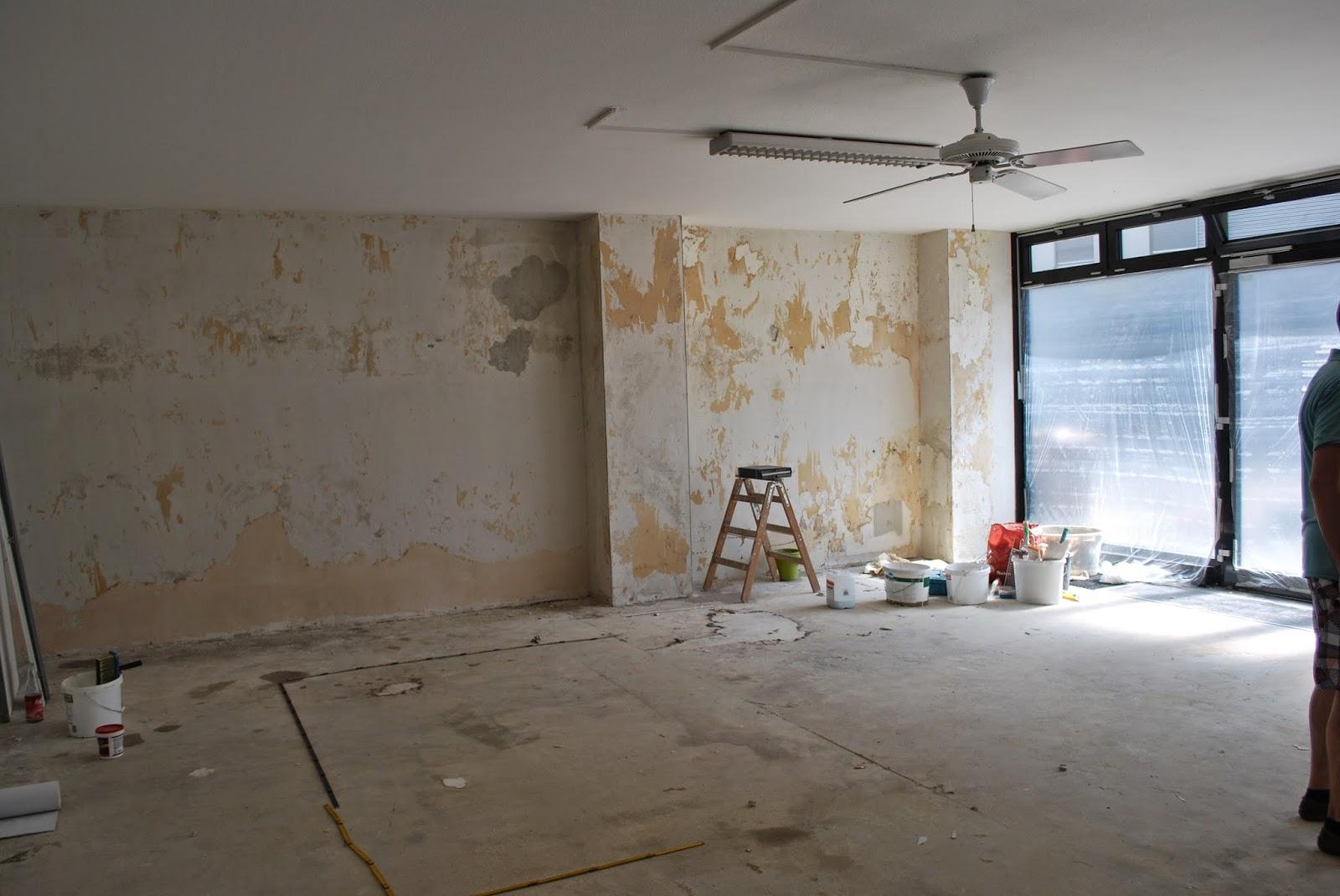 Bauarbeiten im Ladenlokal