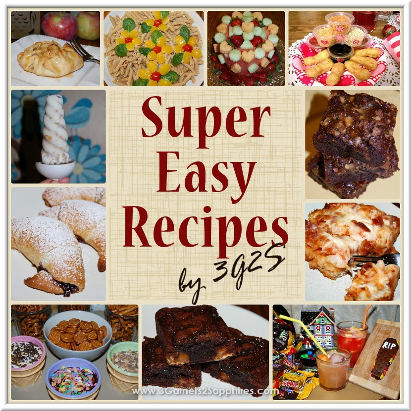 List of Super-Easy Recipes | www.3garnets2sapphires.com