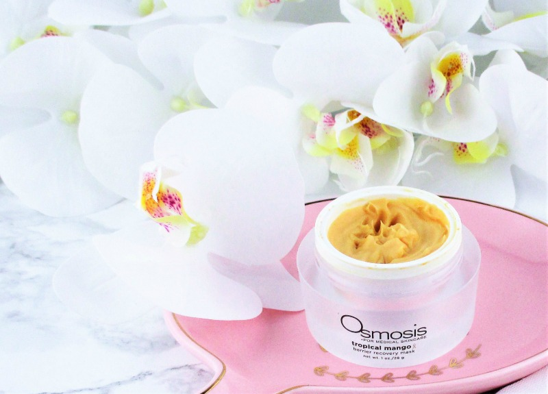 Osmosis Tropical Mango Barrier Recovery Mask makes my skin feel soft and hydrated and gives it a beautiful glow.
