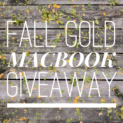 Fall Gold Macbook Giveaway