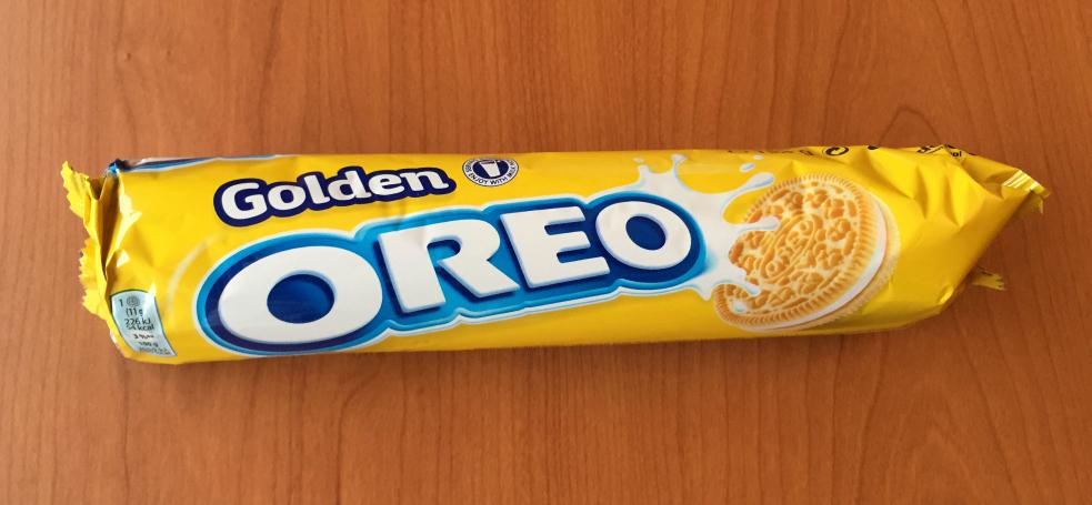 Fotografía de parquete de galletas Oreo Golden