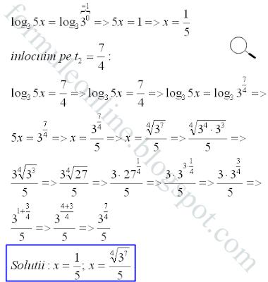 logarithmic equation solved