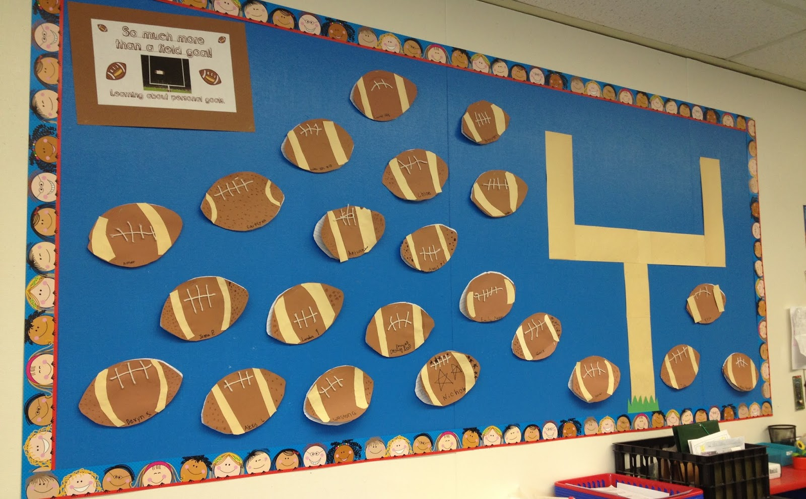 Classroom Goal Setting Ideas ~ Are you ready for some football theme fun freebies