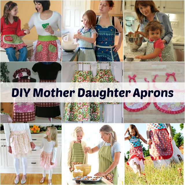 DIY Mother Daughter Apron Roundup, Becky Cooks Lightly