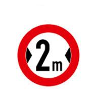 Проезд запрещен для автомобилей  с шириной более 2-х метров