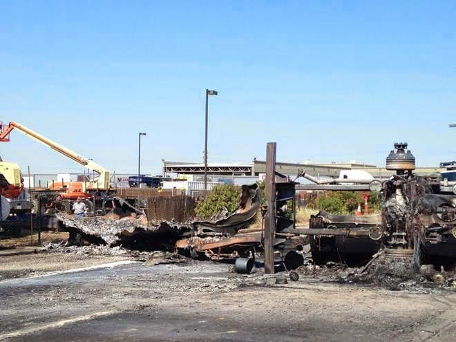 semi truck big rig rollover highway 99 65 bakersfield accident